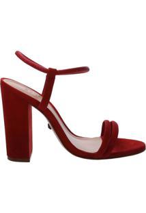 Sandália Salto Bloco Strings Red | Schutz