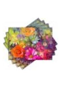 Jogo Americano - Floral Com 4 Peças - 426Jo