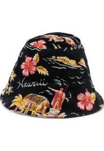 Buscemi Chapéu Bucket Com Estampa Floral - Preto