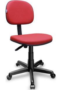 Cadeira Giratória Secretária Jserrano Vermelho Ultra