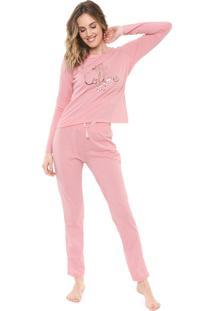 Pijama Malwee Liberta Coffee Rosa