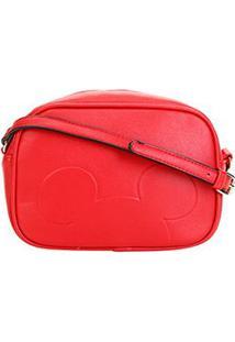 Bolsa Gash Mini Bag Mickey Transversal Feminina - Feminino-Vermelho