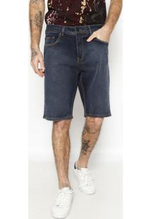 Bermuda Jeans Com Pespontos - Azul Escurocalvin Klein
