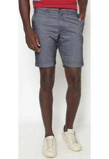 Bermuda Slim Fit Com Bolsos- Azullacoste