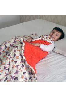 Cobertor Ponderado Artesanal Borboletas Grande Teiajubinha