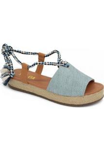 Sandália Sua Cia Jeans Feminina - Feminino-Azul