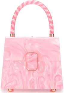 Sophia Webster Patti Marbled Tote Bag - Rosa