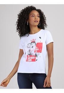 Blusa Feminina Nairobi La Casa De Papel Manga Curta Decote Redondo Branca
