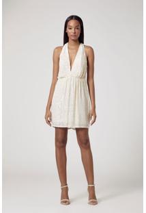 Vestido Curto Bordado Off White Off White