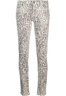 7 For All Mankind Calça Jeans Skinny Com Estampa De Leopardo - Cinza