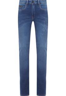 Calça Masculina Jeans Skinny Five Pockets - Azul Marinho