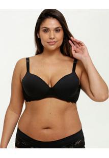 Sutiã Feminino Com Base Recorte Renda Plus Size Marisa