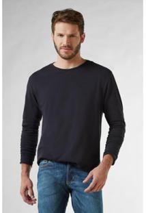 Camiseta Pf Crepe Ml Reserva Masculina - Masculino-Preto