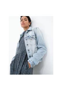 Jaqueta Jeans Com Bolsos E Puídos | Marfinno | Azul | G