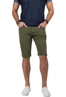 Bermuda Sarja Tortuga Co. Verde Militar