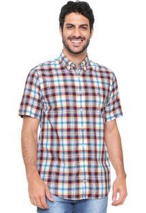 Camisa Tommy Hilfiger Reta Xadrez Branca/Azul/Vermelha