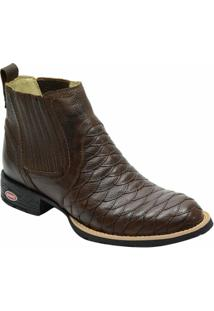 Bota Country Escrete Floater Escamada - Masculino-Café