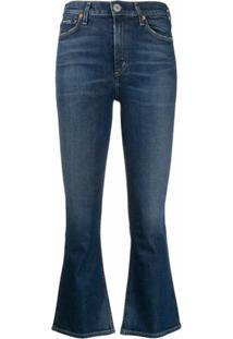 Citizens Of Humanity Calça Jeans Cropped Cintura Alta - Azul