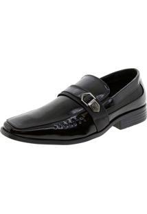 Sapato Masculino Social Preto Broken Rules - 89107