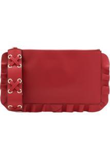 Red Valentino Clutch Rock Ruffles - Vermelho