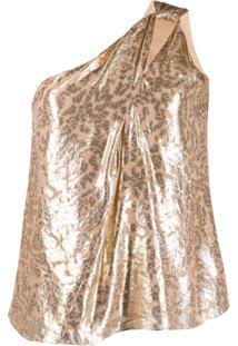 Pinko Blusa De Jacquard - Dourado