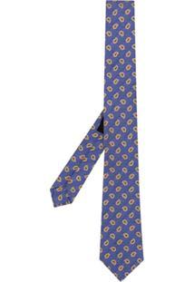 Etro Gravata De Seda Paisley - Azul