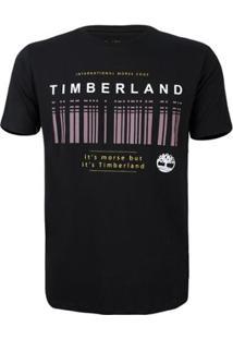 Camiseta Timberland Masculina Morse Code - Masculino-Preto+Branco