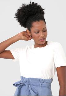 Camiseta Dzarm Aplicações Branca