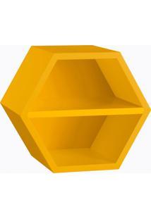 Nicho Favo Com Prateleira Amarelo Laca M40