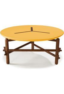 Mesa De Centro Twist Maxima Cacau/Amarelo