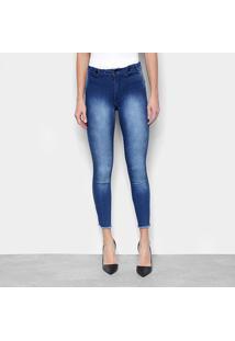 Calça Jeans Skinny Biotipo Midi Cintura Média Feminina - Feminino