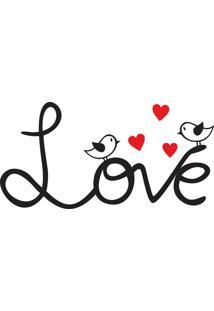 Adesivo De Parede Love Birds