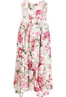 P.A.R.O.S.H. Vestido Com Cinto E Estampa Floral - Neutro