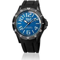 6cd59819064 Relógio Everlast Masc Cx Aço Pulseira Silicone Analógico - Masculino-Azul  Claro+Branco