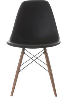 Cadeira Em Policarbonato Eames 2 47X55Cm Preta