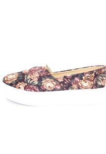 Tênis Quality Shoes Flatform 003 Floral