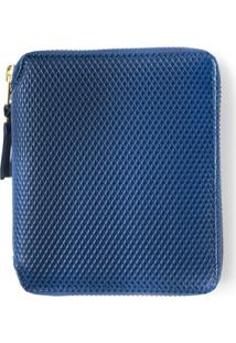 Comme Des Garçons Wallet Carteira Clássica De Couro - Azul