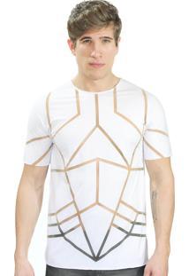Camiseta Klauk Transparente Geometric Branco