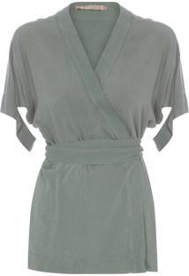 Blusa Feminina Envelope - Verde