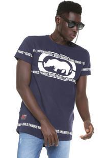 Camiseta Ecko Zíperes Azul-Marinho