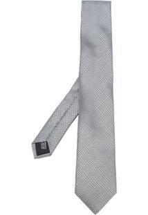 Cerruti 1881 Gravata De Seda Com Padronagem - Grey