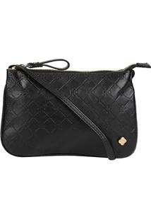 7c83ae364 ... Bolsa Couro Capodarte Mini Bag Transversal Feminina - Feminino-Preto