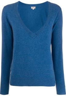 Temperley London Blusa Decote V Profundo - Azul