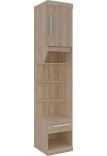 Armário Virtual 1 Porta E 3 Pratileiras 45Cm Cedro Robel