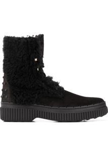 Tod'S Ankle Boot Com Amarração - Preto