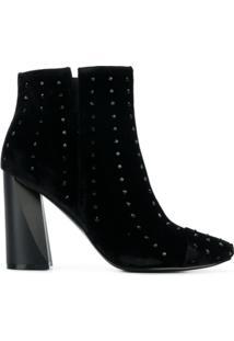 Kendall+Kylie Ankle Boot 'Tronchetto' De Veludo - Preto