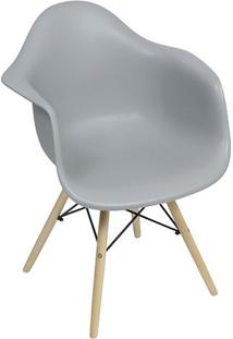 Poltrona Eames- Cinza & Marrom Claro- 82X62X44Cmor Design