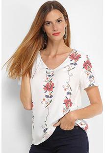 Blusa Lez Lez Estampada Feminina - Feminino-Floral