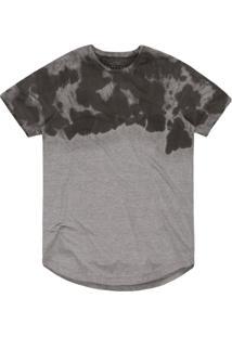 Camiseta Masculina Mescla Tie-Dye Mescla Cinza