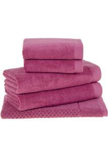 Jogo De Toalhas Dual- Pink- 5Pçsbuddemeyer